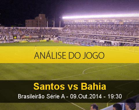 Análise do jogo: Santos vs Bahia (9 Outubro 2014)