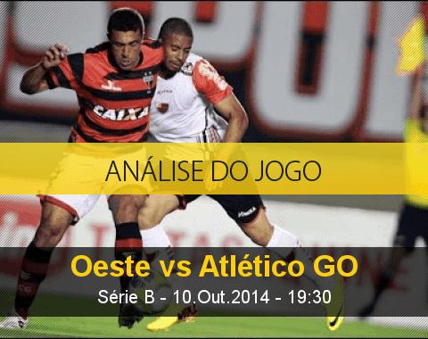 Análise do jogo: Oeste vs Atlético Goianiense (10 Outubro 2014)
