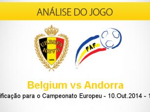 Análise do jogo: Bélgica vs Andorra (10 Outubro 2014)