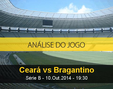 Análise do jogo: Ceará vs Bragantino (10 Outubro 2014)