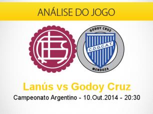 Análise do jogo: Lanús vs Godoy Cruz (10 Outubro 2014)