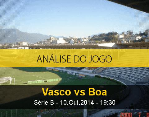 Análise do jogo: Vasco vs Boa Esporte (10 Outubro 2014)