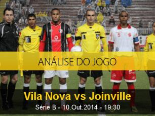 Análise do jogo: Vila Nova vs Joinville (10 Outubro 2014)