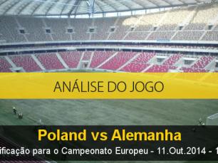 Análise do jogo: Polônia X Alemanha (11 Outubro 2014)