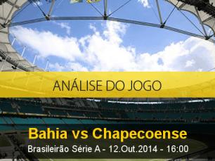 Análise do jogo: Bahia vs Chapecoense (12 Outubro 2014)