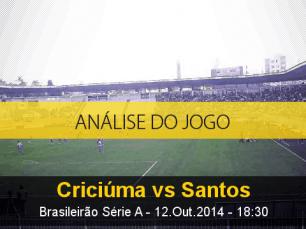 Análise do jogo: Criciúma vs Santos (12 Outubro 2014)