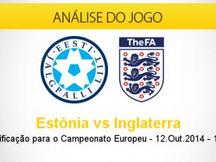 Análise do jogo: Estônia vs Inglaterra (12 Outubro 2014)