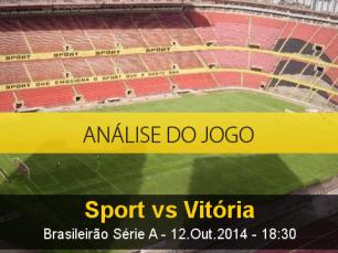 Análise do jogo: Sport vs Vitória (12 Outubro 2014)
