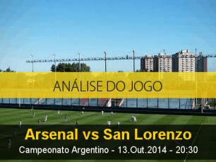 Análise do jogo: Arsenal de Sarandí vs San Lorenzo (13 Outubro 2014)