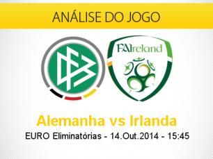 Análise do jogo: Alemanha vs Irlanda (14 Outubro 2014)