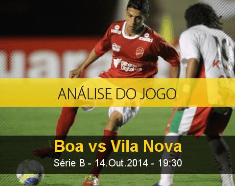 Análise do jogo: Boa Esporte vs Vila Nova (14 Outubro 2014)