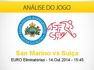 Análise do jogo: San Marino vs Suíça (14 Outubro 2014)