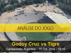 Análise do jogo: Godoy Cruz vs Tigre (15 Outubro 2014)