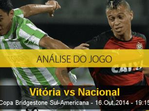 Análise do jogo: Vitória vs Nacional de Medellín (16 Outubro 2014)