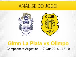 Análise do jogo: Gimnasia La Plata X Olimpo (17 Outubro 2014)
