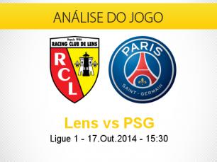 Análise do jogo: Lens X Paris Saint-Germain (17 Outubro 2014)