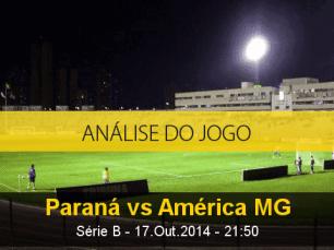 Análise do jogo: Paraná X América Mineiro (17 Outubro 2014)