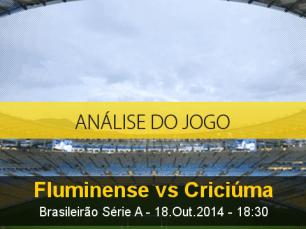 Análise do jogo: Fluminense vs Criciúma (18 Outubro 2014)