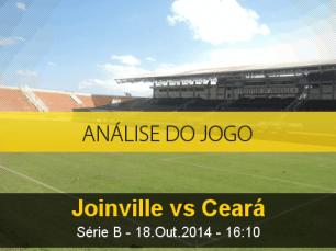 Análise do jogo: Joinville vs Ceará (18 Outubro 2014)
