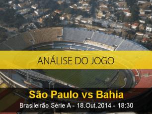 Análise do jogo: São Paulo vs Bahia (18 Outubro 2014)