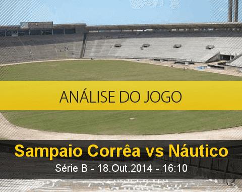 Análise do jogo: Sampaio Corrêa vs Náutico (18 Outubro 2014)
