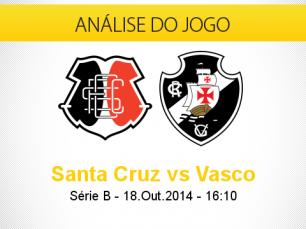Análise do jogo: Santa Cruz vs Vasco (18 Outubro 2014)
