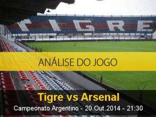Análise do jogo: Tigre vs Arsenal de Sarandí (20 Outubro 2014)