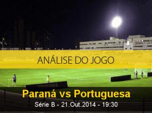 Análise do jogo: Paraná X Portuguesa (21 Outubro 2014)