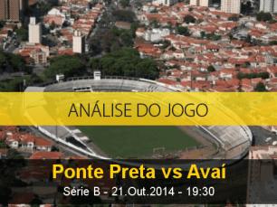 Análise do jogo: Ponte Preta X Avaí (21 Outubro 2014)