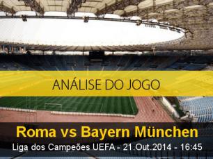 Análise do jogo: Roma X Bayern de Munique (21 Outubro 2014)
