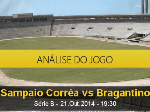 Análise do jogo: Sampaio Corrêa X Bragantino (21 Outubro 2014)