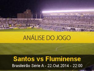 Análise do jogo: Santos X Fluminense (22 Outubro 2014)