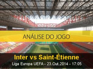 Análise do jogo: Inter de Milão X Saint Étienne (23 Outubro 2014)