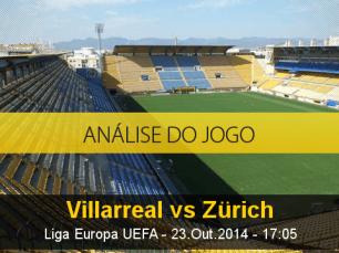 Análise do jogo: Villarreal X Zurique (23 Outubro 2014)