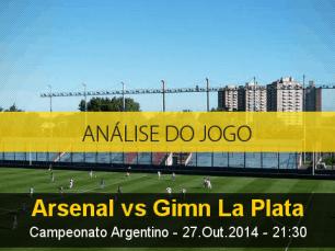 Análise do jogo: Arsenal de Sarandí X Gimnasia La Plata (27 Outubro 2014)