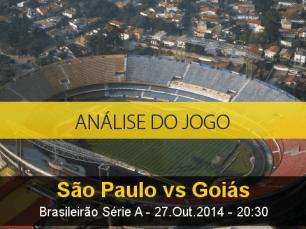 Análise do jogo: São Paulo X Goiás (27 Outubro 2014)