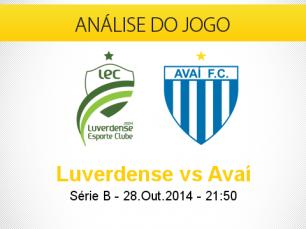 Análise do jogo:  Luverdense vs Avaí (28 Outubro 2014)