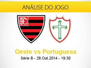 Análise do jogo: Oeste X Portuguesa (28 Outubro 2014)