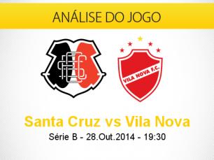 Análise do jogo: Santa Cruz X Vila Nova (28 Outubro 2014)