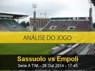 Análise do jogo: Sassuolo X Empoli (28 Outubro 2014)