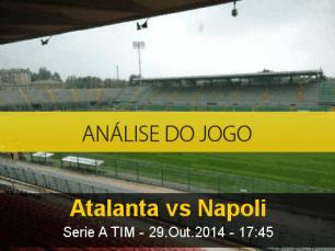 Análise do jogo: Atalanta X Napoli (29 Outubro 2014)