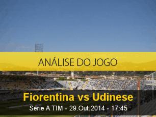 Análise do jogo: Fiorentina X Udinese (29 Outubro 2014)
