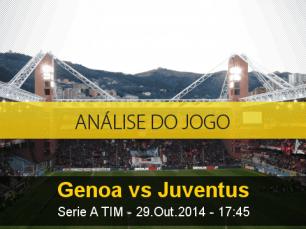 Análise do jogo: Genoa X Juventus (29 Outubro 2014)