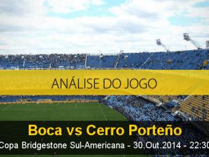 Análise do jogo: Boca Juniors X Cerro Porteño (30 Outubro 2014)