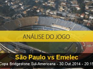 Análise do jogo: São Paulo X Emelec (30 Outubro 2014)