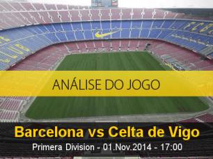 Análise do jogo: Barcelona X Celta de Vigo (1 Novembro 2014)