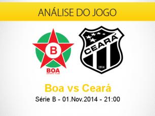Análise do jogo: Boa Esporte X Ceará (1 Novembro 2014)