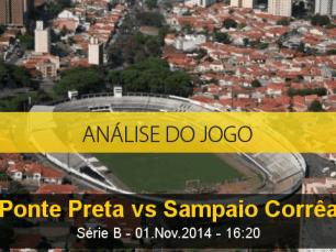 Análise do jogo: Ponte Preta X Sampaio Corrêa (1 Novembro 2014)