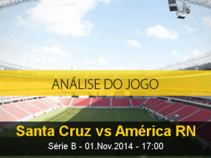 Análise do jogo: Santa Cruz X América de Natal (1 Novembro 2014)