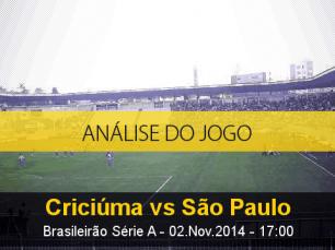 Análise do jogo: Criciúma X São Paulo (2 Novembro 2014)